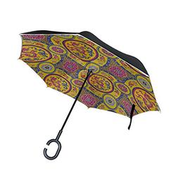 Chinese Dragon Inverted Umbrella Double Layer Windproof, Wat