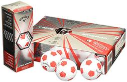 NEW CALLAWAY CHROME SOFT X TRUVIS GOLF BALLS 1 DOZEN RED