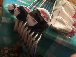 Complete TaylorMade AeroBurner Golf Set, RH, Driver, 3 Wood,