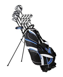 18 Piece Men's Complete Golf Club Package Set With Titanium