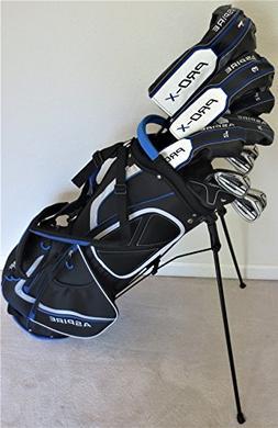 Mens Complete Golf Set - Adjustable Driver, Fairway Wood, 3,