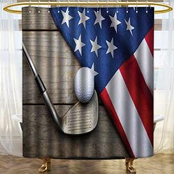 PRUNUSHOME Sports Decor Collection Golf Ball with Flag of US