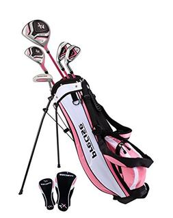 Distinctive Girls Pink Junior Golf Club Set for Age 9 to 12