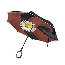Double Layer Inverted Flower Snail Metal Iron Daisy White Sm