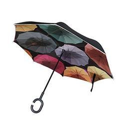 DNOVING Double Layer Inverted Umbrella Pattern Non Cloud Clo
