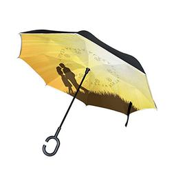 Top Carpenter Double Layer Reverse Inverted Umbrellas Young