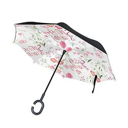 Top Carpenter Double Layer Reverse Inverted Umbrellas Cute F