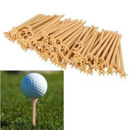 Vktech 100 Pcs/Pack Professional Frictionless Golf Tee Wheat