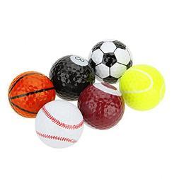 Funny Novelty Practice Golf Balls 6Pack For Kids Men Woman ,