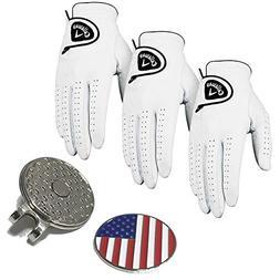 Set of 3 Callaway Glof Men's Dawn Patrol Gloves, Left Hand,