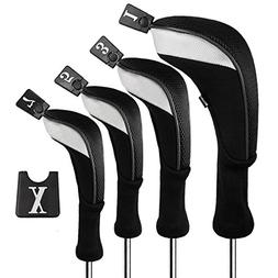 Andux Golf 460cc Driver Wood Head Covers Long Neck Interchan