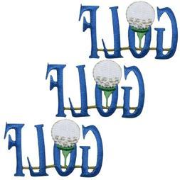 "Golf Applique Patch - Links, Golfing Badge 2"""
