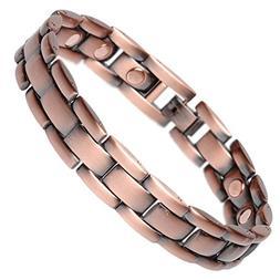 Golf Bracelets for Men Magnetic - Brushed Link Pure Copper B