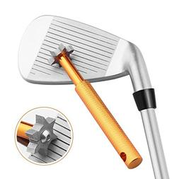 Histar Golf Club Groove Sharpener and Cleaner Tool with 6 He