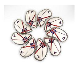 Dandy Premium Golf Club Head Cover Iron Cover Set of 9 Union