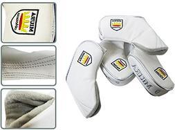 Miura Premium Golf Club Head Cover Iron Cover 10 Pcs Set Whi