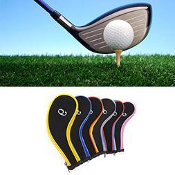 Golf Club Head Covers, Set of 10 Pcs Golf Iron Headcover/Gol