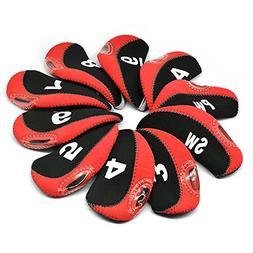 BROTOU Golf Club Head Covers, 3-9 A/SW/PW Neoprene Headcover
