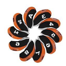 Golf Club Iron Covers Neoprene 10pcs Waterproof Putter Set P