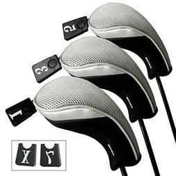 Andux Golf 460cc Driver Wood Head Covers Interchangeable No.