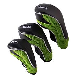 Andux Golf Driver Wood Head Covers 460cc Driver Hook&Loop Se