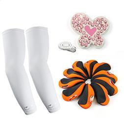 The Elixir Golf Women Gift Set, UV Protection Arm Sleeves +