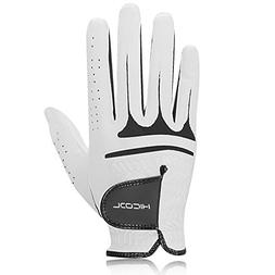 HiCool Golf Glove, Breathable Sheepskin Men's Golf Glove Wor