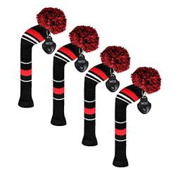 Scott Edward Golf Hybrid  Club Headcovers,4 PCS Packed, Leis