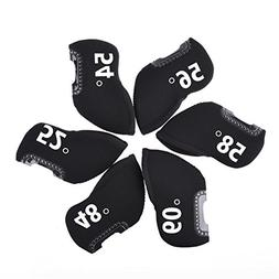 Golf Iron Covers with Plastic Window Display, 6 PCS Neoprene