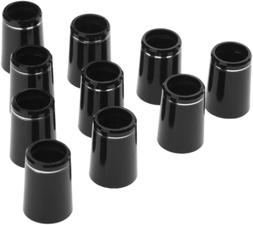 10pcs .370 Black Golf Tapered Ferrules Compatible for Irons