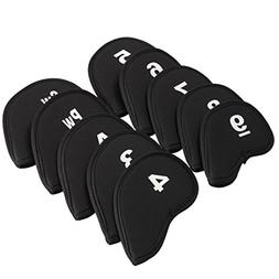 Golf Iron Head Covers Set, Anyasun 10PCS Golf Head Cover Clu