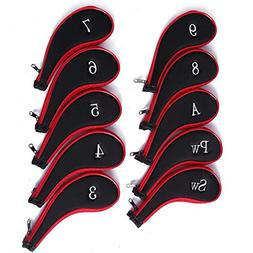 Dark Horse 10pcs High Quality Golf Long Neck Iron Zippered H
