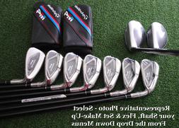 TaylorMade M4 Hybrid Rescues+Irons LEFT HAND Graphite Combo