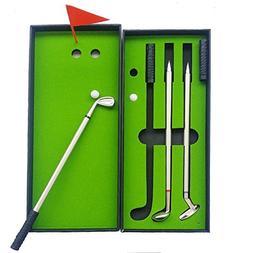 NALAKUVARA Golf Pen Set, Mini Desktop Golf Ball Pen Gift Set