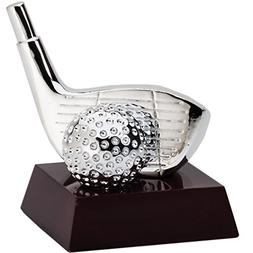 Decade Awards Golf Silver Driver and Ball Resin Trophy | Gol