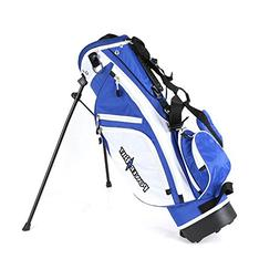 NEW PowerBilt Golf Junior Stand Bag Blue / White Ages 5-8 Po