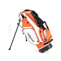 NEW PowerBilt Golf Junior Stand Bag Orange / White Ages 3-5