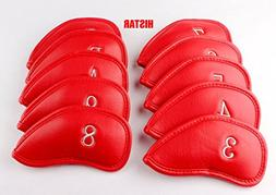 Histar Golf 10pcs Thick Synthetic Leather Golf Iron Head Cov
