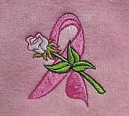 Golf Towel Tri-Fold Pink Velour Breast Cancer Awareness Smoo