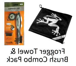 Frogger Golf Wet and Dry Amphibian Towel & Brush Pro Black T