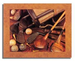 Golf Wood Clubs Irons Balls Bag Memorabilia Photo Wall Pictu