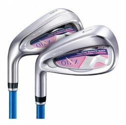 XXIO Golf X Series Ladies Irons, 7-PW & SW, Ladies Flex, Gra