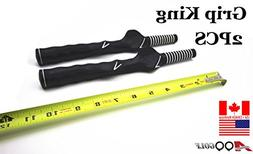 2pcs A99 Golf Grip King swing trainer left handed training a