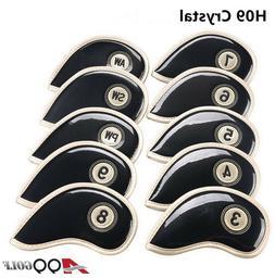 A99 Golf H09 Crystal Iron Cover Black 10pcs/set, Club headco