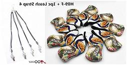 H09-F Animated peacock style Iron Headcover set of 9pcs for