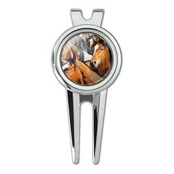 Graphics and More Horses Gridlock Golf Divot Repair Tool and