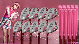 Women's iDrive Golf Clubs All Ladies Pink Hybrid Complete Fu