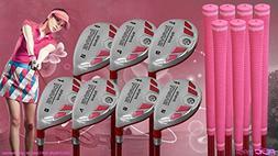 Women's iDrive Golf Clubs All Ladies Pink Hybrid Complete Fu