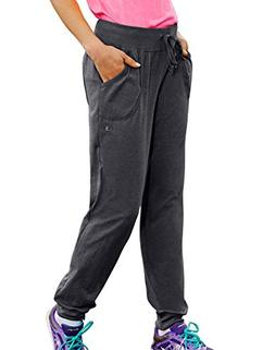 Champion Women's Jersey Pocket Pants Granite Heather L