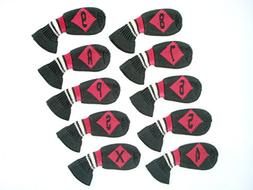 HUGELOONG Knit Golf 10Piece Iron Head Cover Set ¡